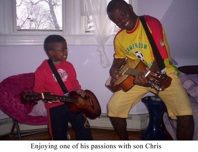 Enjoying-one-of-his-passions-with-son-Chris