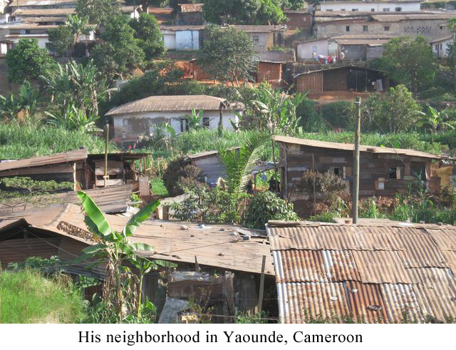 His-neighborhood-in-Yaounde,-Cameroon
