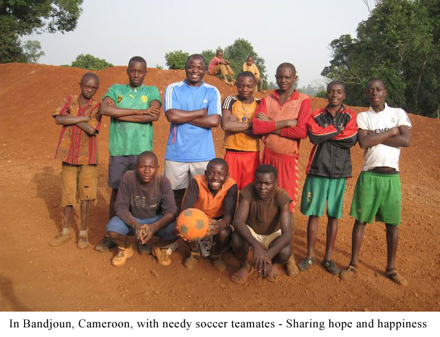 In-Bandjoun,-Cameroon,-with-needy-soccer-teamates---Sharing-hope-and-happiness